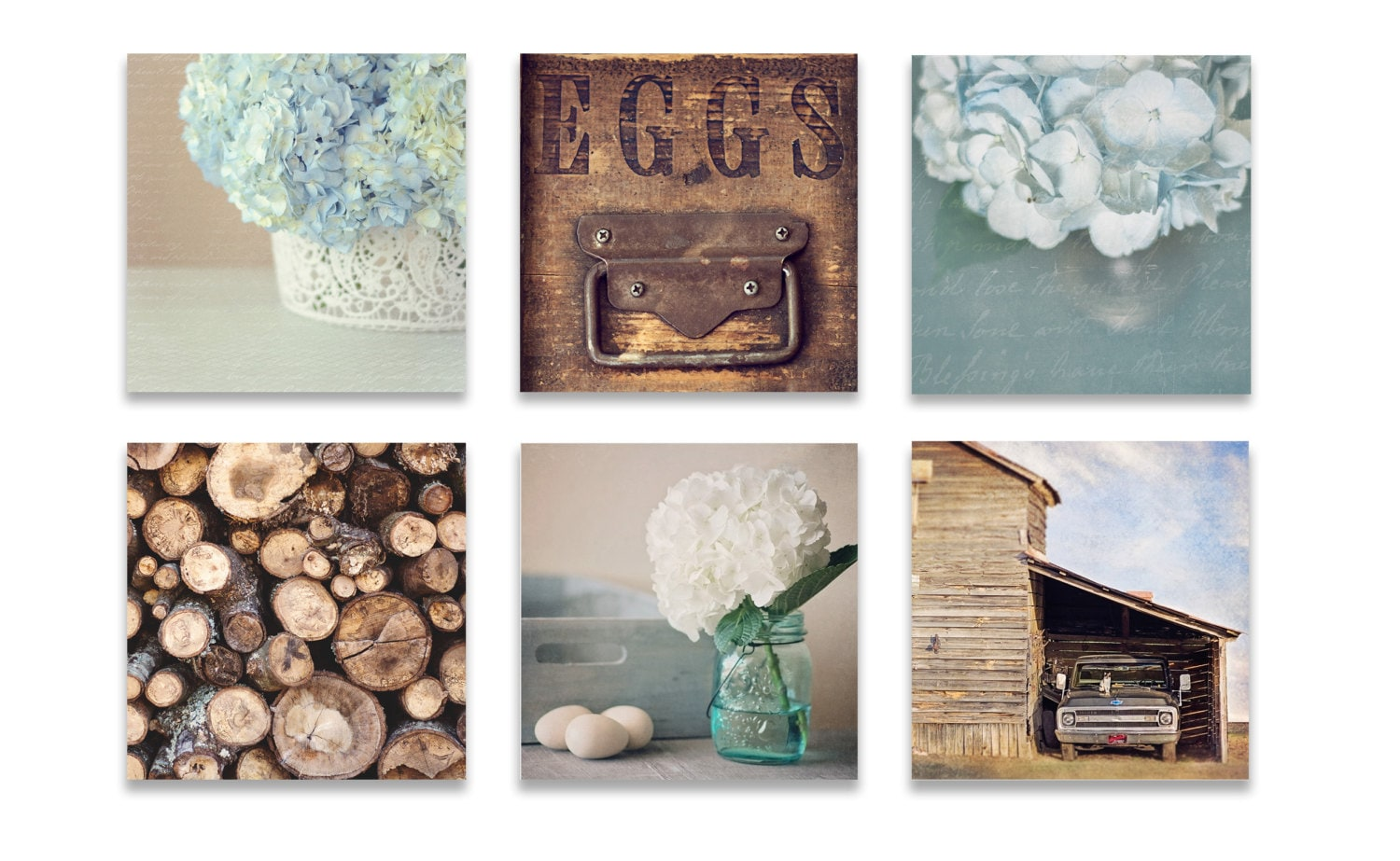 Rustic Wall Decor Cool Farmhouse Wall Decor Rustic Wall Art Set Of Six Prints Blue Inspiration