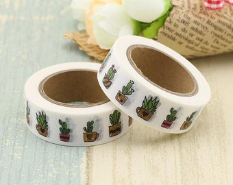 Cactus Washi Masking Tape - Pretty Cactus Themed Washi Paper Tape