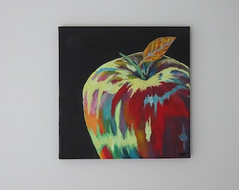 Apple abstract painting