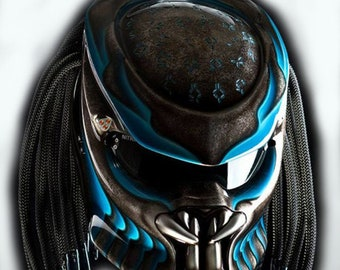 Predator Helmet Street Fighter Mix Carbon and Roving Material DOT Approved