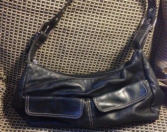 stone mountain leather purse, leather handbag, boho handbag, blach boho bag