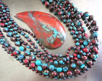 """4.5mm COPPER Ball Chain, SONORA SUNRISE Patina, Bulk Chain, Hand Applied Patina, by the Inch, 6"""" to 72"""""""