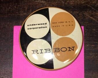 Vintage Underwood Ribbon Tin