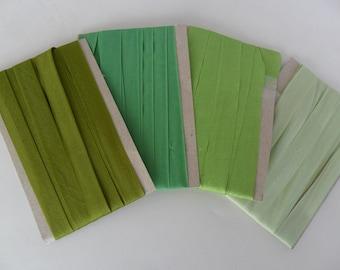 Silk Rayon Seambinding Variegated Greens