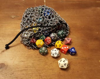 Large Chainmail Dice Bag