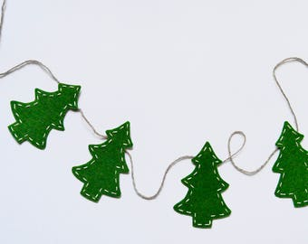Cut-out Christmas Tree Garland