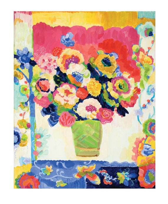 Peony Flow Giclee Canvas Print by Kimberly Hodges, 11 x 14, 16 x 20
