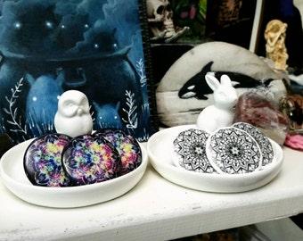 "1.5"" Mandala Pinback Buttons - Intuitive Artwork - Black & White or Rainbow Galaxy"