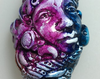 One of a Kind Sculpted Bead - Sunset