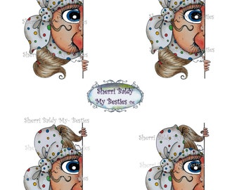 INSTANT DOWNLOAD Digital Digi Stamps Big Eye Big Head Dolls Bestie New Bestie colored printable B5 Sheet My Besties By Sherri Baldy