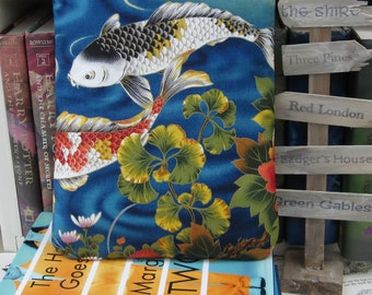 MAXI BOOK SLEEVE- Koi Fish- Book Pouch, Book Protector