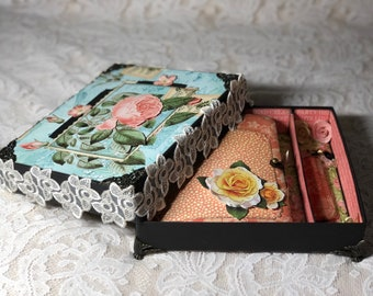 Junk journal in the box-Graphic45-Flower-Vintage