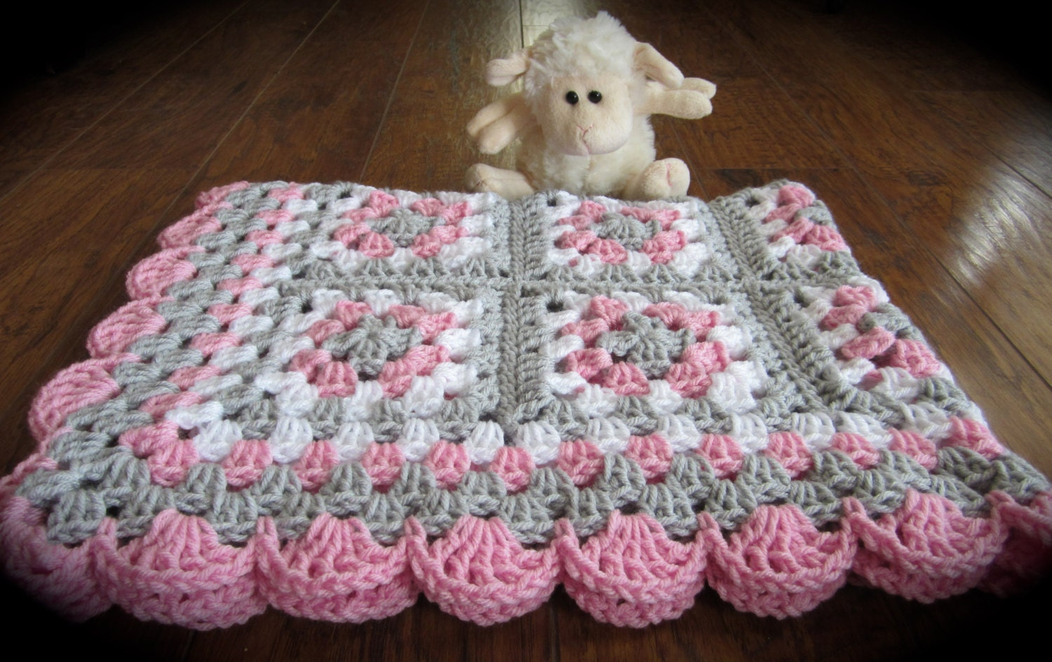 Waffle Baby Blanket Free Pattern.Simple Crocheted Blanket Go To ...