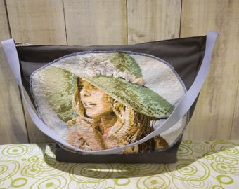 vintage Tote recycle your canvas