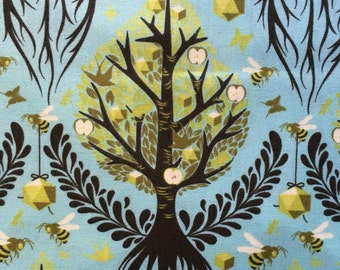 Tree of Life in Pool from Birds and Bees by Tula Pink Timeless Collection