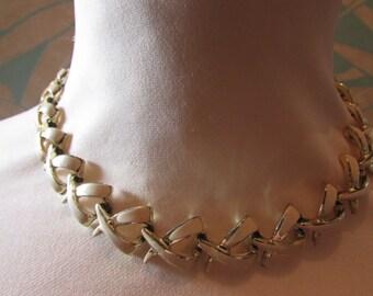 Mid-century 'Le Petit Louvre' Continental Jewellery necklace, bracelet & earring set, demi parure