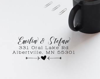 Address Stamp, Mailing Stamp, Envelope Stamp, Postal Stamp, Family Address Stamp,  Return Address Rubber Stamp, Self Inking Stamp - CA767