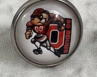 Ohio State GO BUCKS Buckeyes Tie Tack Lapel Pin New