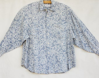 Vintage 90s Women's Guess Slouchy Blouse/Shirt/ by Georges Marciano Top/High Fashion/Retro