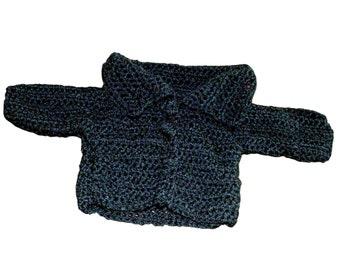 Baby Sweater, Baby Jacket, Black Baby Sweater, Black Kids Cardigan, Toddler Sweater, Toddler Jacket, Newborn Jacket, Black Baby Coat