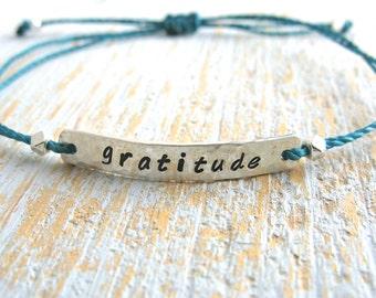 Word Bar Bracelet, Custom Word Bracelet, Word Bracelet, Name Bracelet, Sterling Silver Bracelet, Word String Bracelet