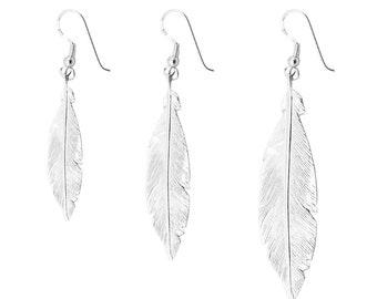 FEATHER handmade sterling silver earrings