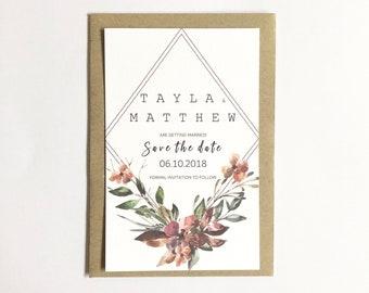 A U T U M N   F L O R A L S | Save The Date Invitations | Printed Invitations | Getting Married | Weddings