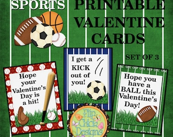 Sports Printable Valentine Cards