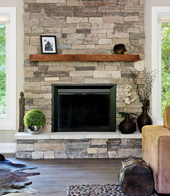 Rustic And Modern Fireplace: Fireplace Mantle 8x8 Farmhouse Mantel Rustic Modern Mantle