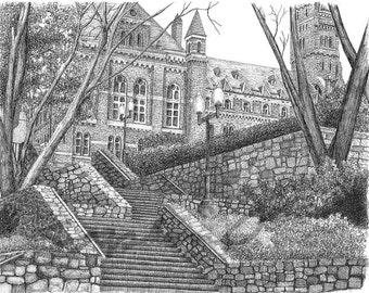 Georgetown University, Fine Art Print