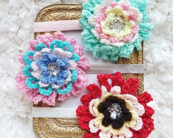 Unique Baby Gifts for Girls, Flower Baby Headband, Set of Three