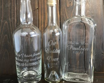 Custom Glass Bottle, Personalized Glass Bottle, Engraved Glass Bottle