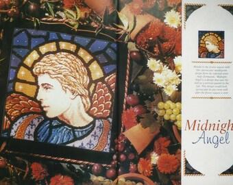 Large needlepoint Angel cushion/pillow -designer worked, magazine featured.