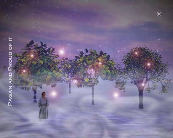 "Meeting The Fae On a Foggy Winter Night - 8"" x 10"" Digital Print"