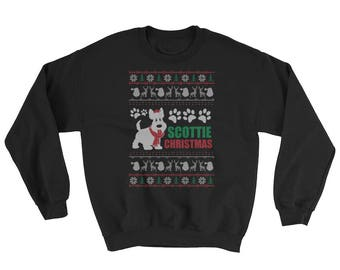 Cute Scottish Terrier Ugly Christmas Sweater Funny Dog Gift