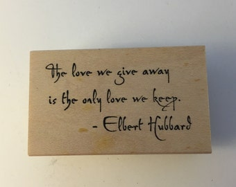 Rubber Soul Wood Mounted Rubber Stamp. The Love We Give.