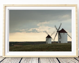 Wind Don Quixote. Castilla la Mancha. Landscapes of Spain. Sun and light. Printable image for download. From Spain with Love