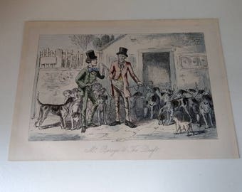 John Leech Mr Barege and The Draft Engraving 19th century