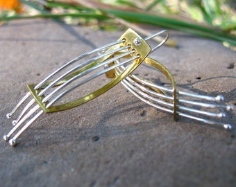 Instrument, harp earrings
