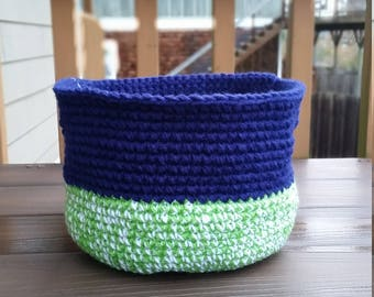 Seahawks inspired basket