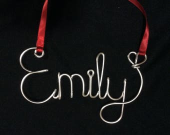 Cristmas ornaments,Personalized ornament,Emily Ornament,wire name ornament,christmas ornament