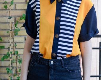 Yellow/Navy blue Vintage Shirt