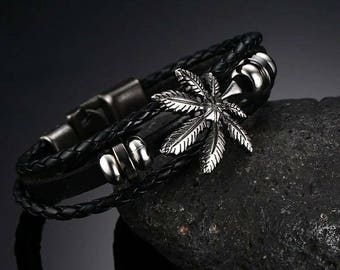 420 leather and stainless steel Leaf 8 inches