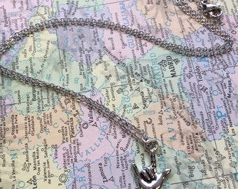 ASL I Love You - Tiny Charm Necklace