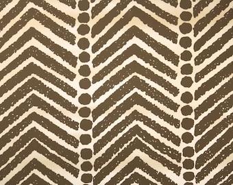 Retro Wallpaper by the Yard 70s Vintage Wallpaper - 1970s Vinyl Brown and Tan Tribal Geometric