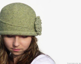 CROCHET PATTERN - Ladies Felted Chapeau - Instant Download (PDF)
