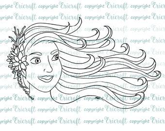 Digital Stamp - Breezy - 300dpi jpeg file by Erica Bruton