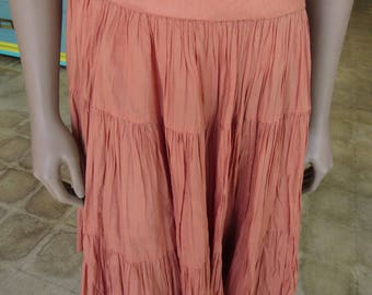 "Vintage Orange Cowgirl Skirt 36"" Waist"