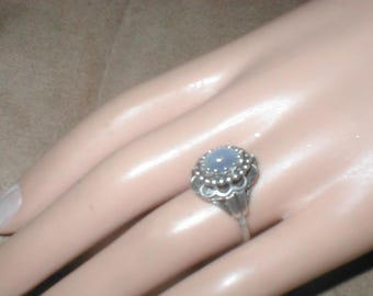 Vintage Sterling Silver Ring with MOONSTONE