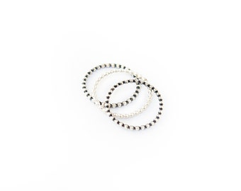 Beaded Sterling Silver Ring